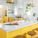 yellow kitchen cupboard